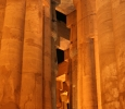 Luxor temple columns at night
