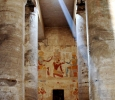 Chapel facade from hypostyle hall, Seti I temple, Abydos