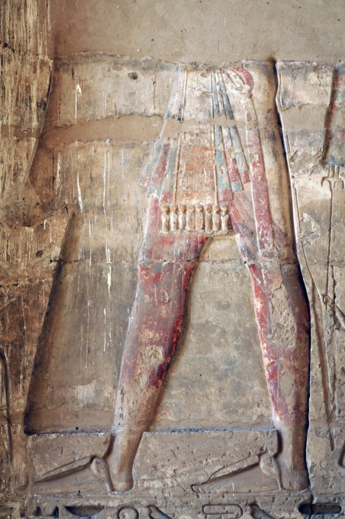Medinet-Habu-sandals-multiple-apron-Egypt