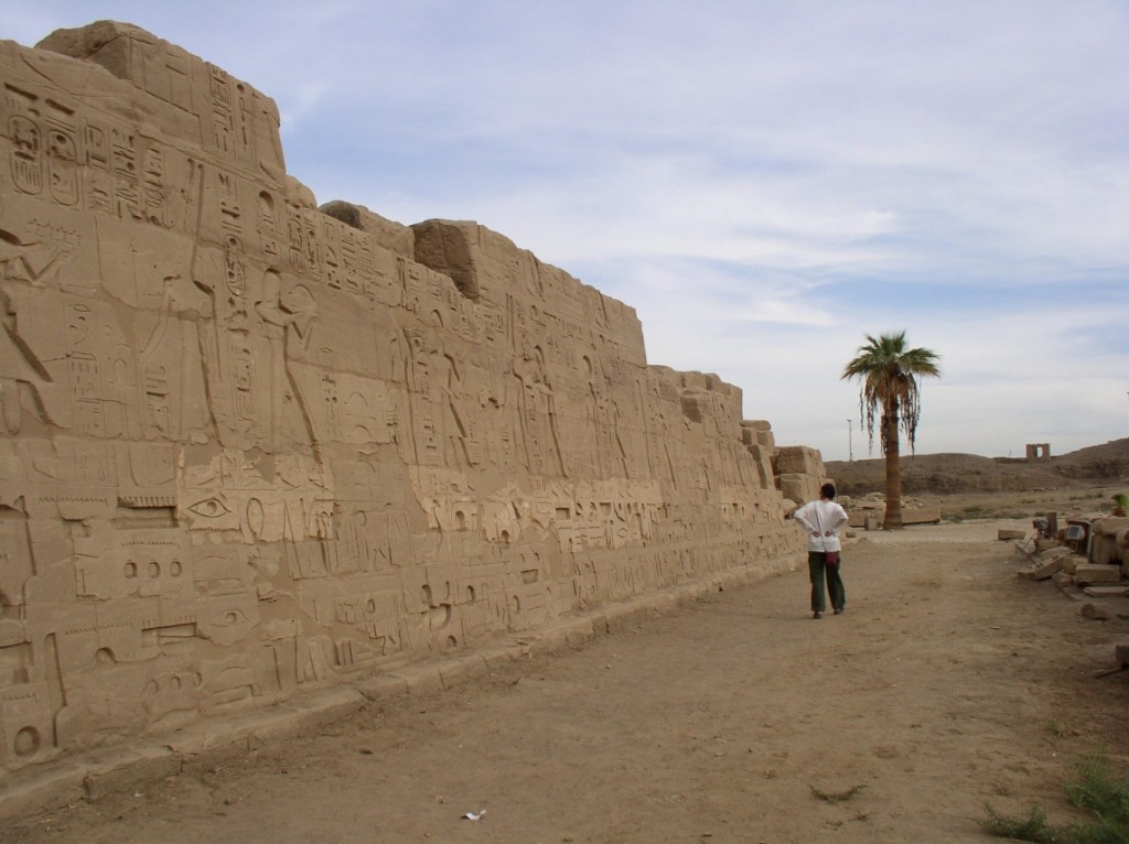 Karnak-enclosure-wall-south-wall-Egypt