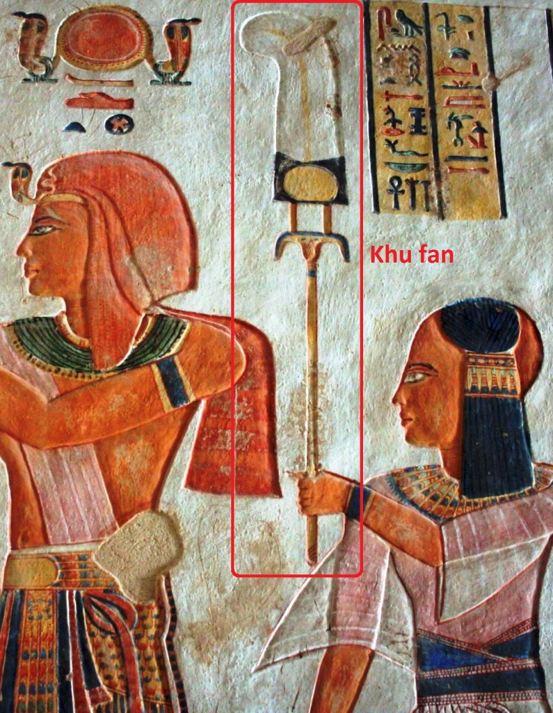 Egyptian art khu fan Ramses III Valley Queens Khaemwaset