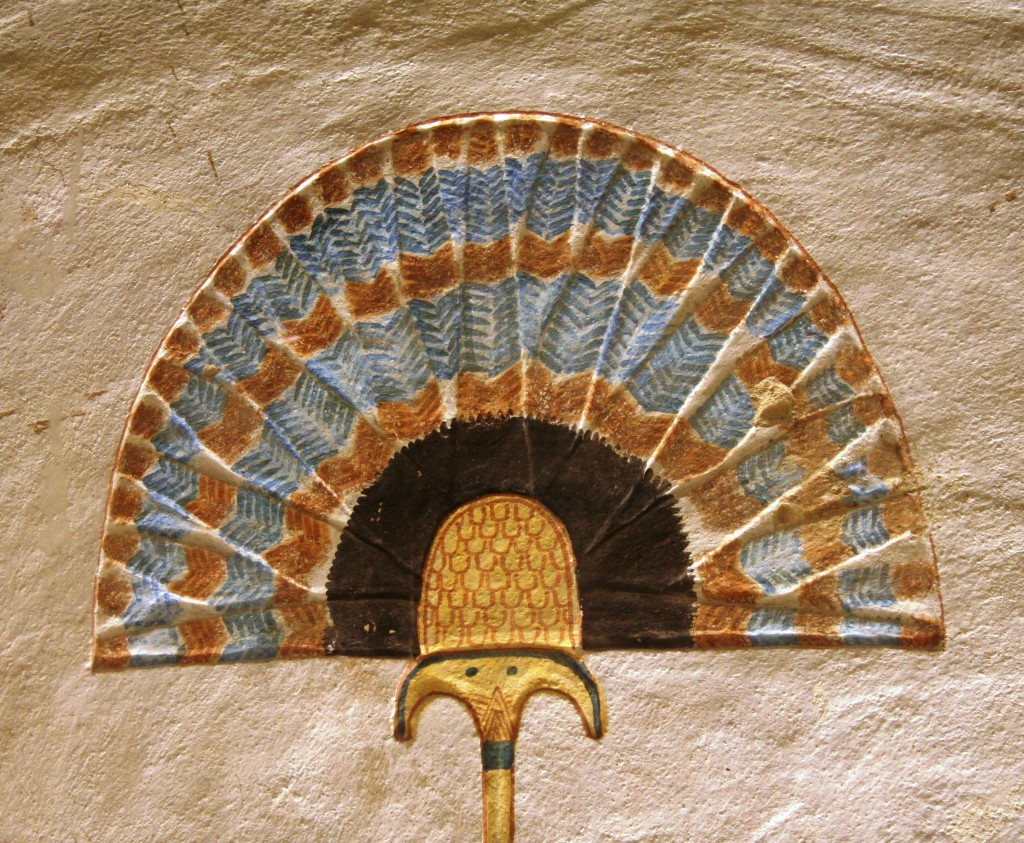 Egyptian art sunshade QV 44 fan