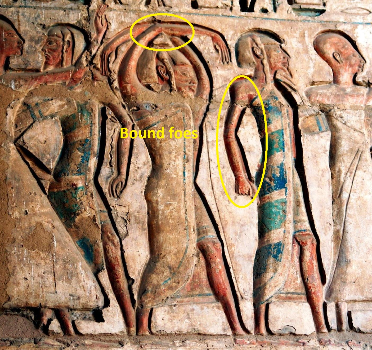 Egyptian art bound prisoners Medinet Habu Ramses
